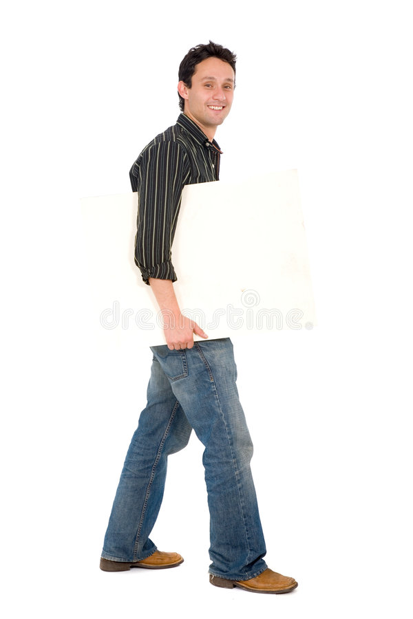 Download Friendly Man Holding A Board Stock Image - Image: 2344231