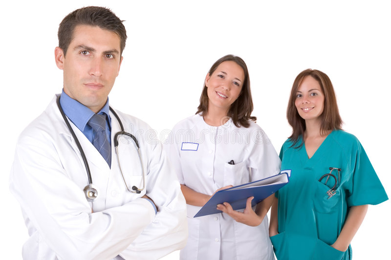 Download Friendly medical team stock image. Image of white, isolated - 3399341