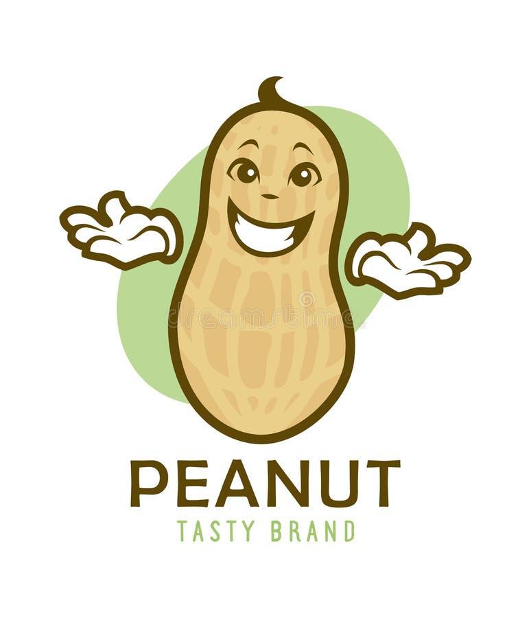 Cartoon peanut character vector illustration