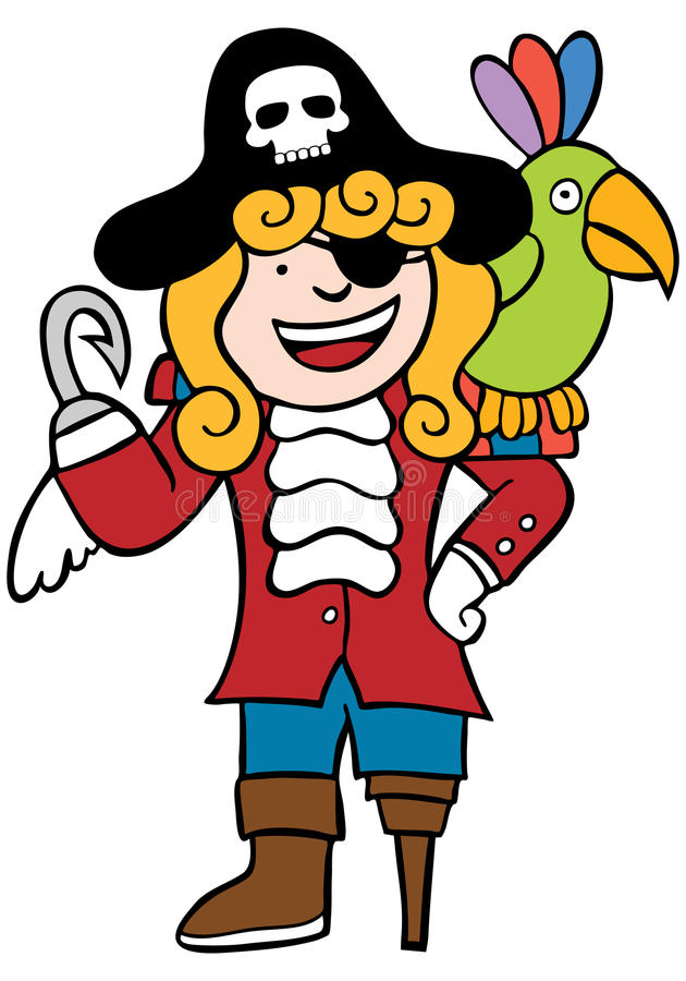 Download Friendly Pirate With Parrot Royalty Free Stock Photo - Image: 9416775