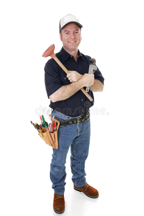 Download Friendly Plumber Complete stock photo. Image of mature - 4519094