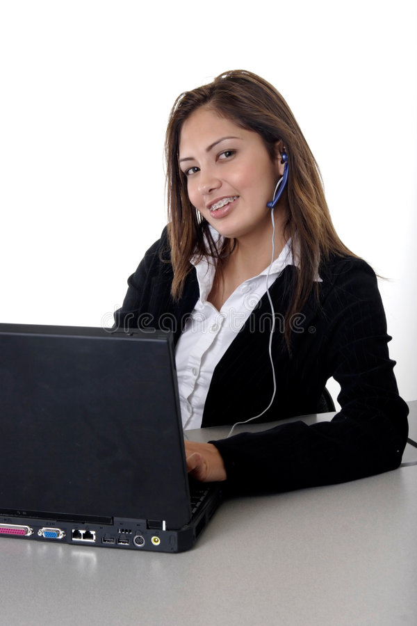 Friendly receptionist stock photography