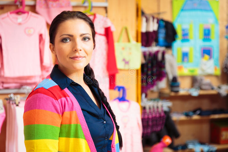Download Friendly Sales Person At Children`s Store Stock Image - Image: 83703237