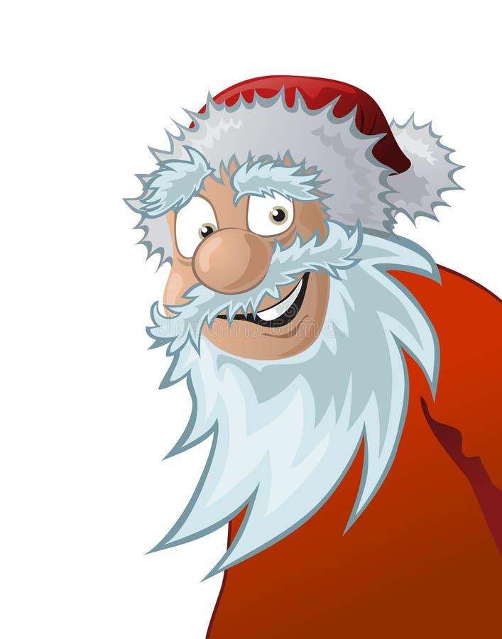 Friendly santa claus, illustration royalty free stock photos