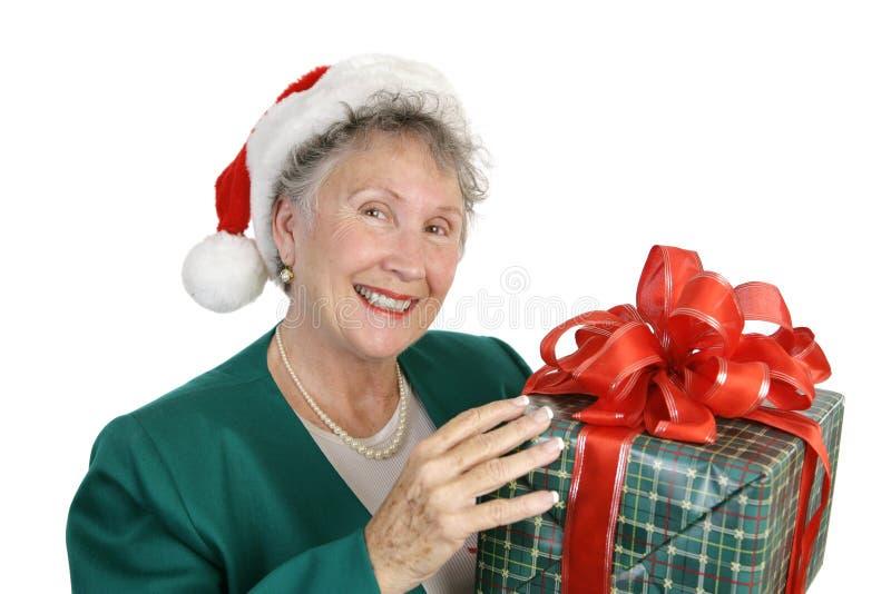 Friendly Senior & Gift stock photos