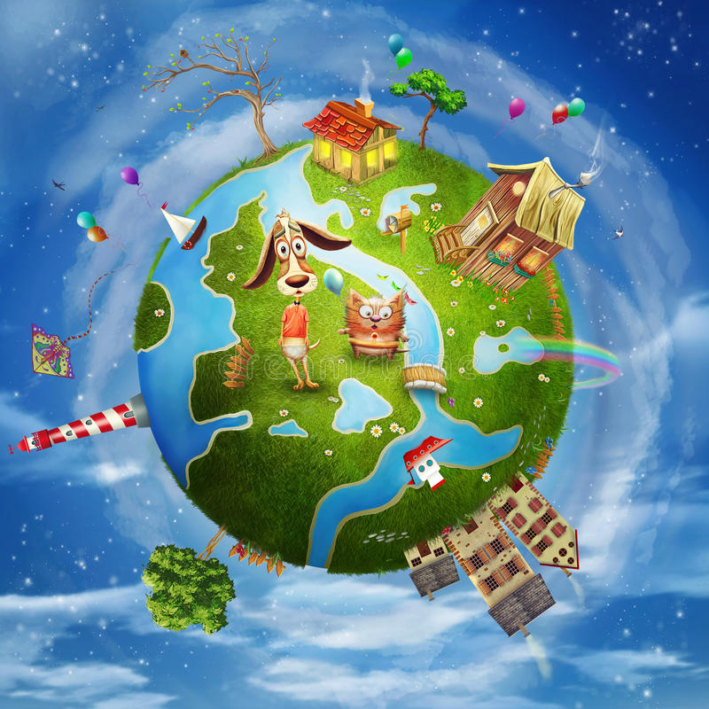 Friendly Small Planet Stock Image