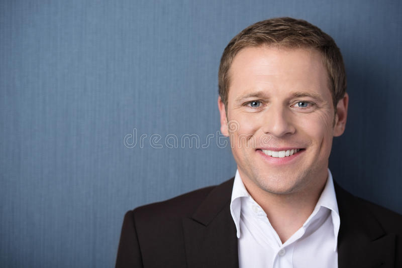 Friendly smiling man royalty free stock photography