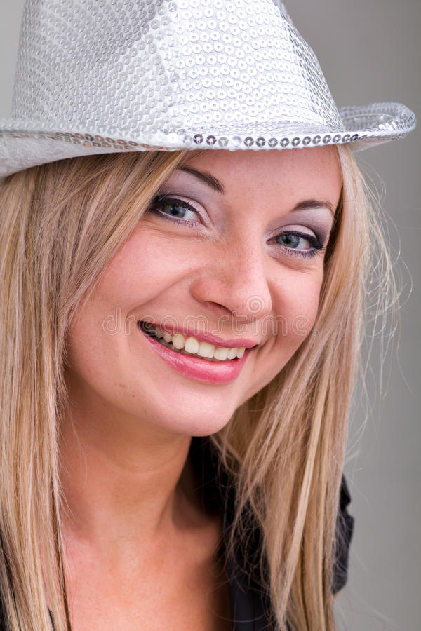 Friendly Smiling Young Woman Stock Photo