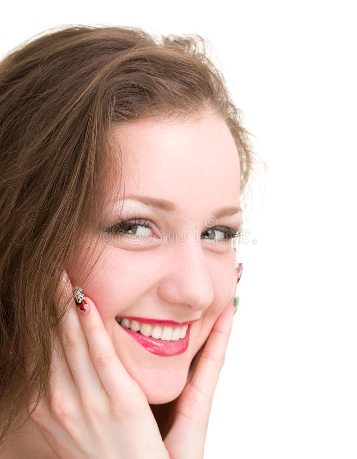 Download Friendly Smiling Young Woman Portrait Stock Photo - Image: 29600946