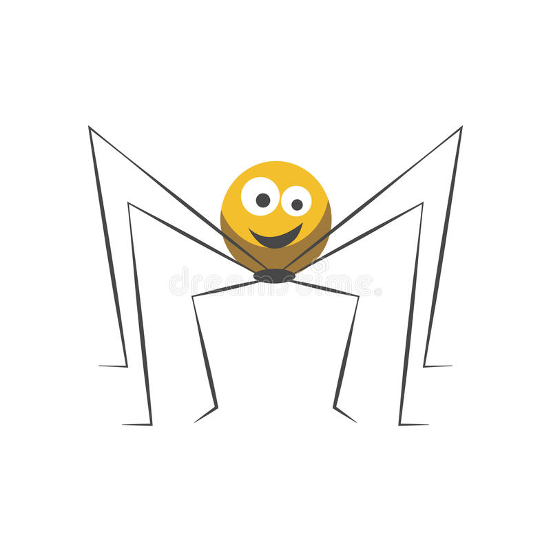 Free Friendly Spider With Round Body And Long Thin Legs Royalty Free Stock Photography - 98121227
