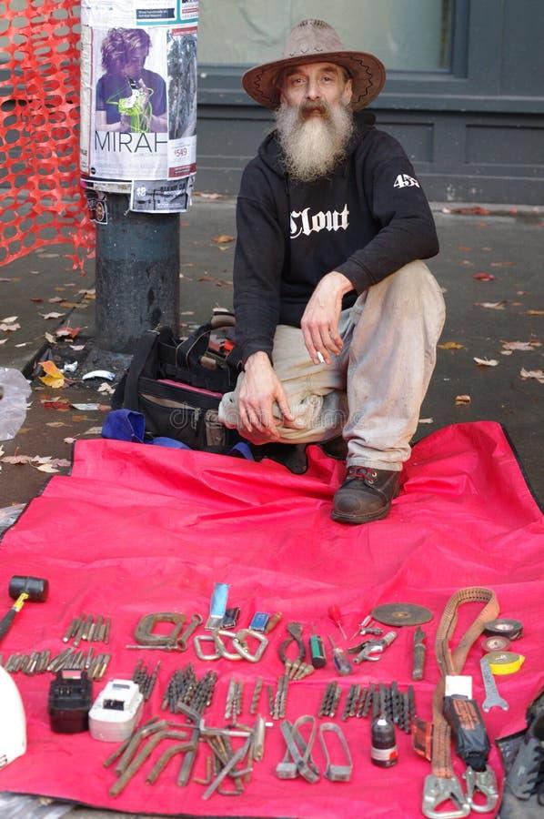 Friendly Street vendor stock photography
