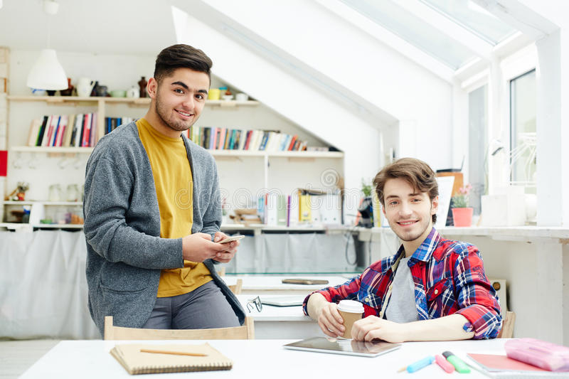 Friendly students royalty free stock image