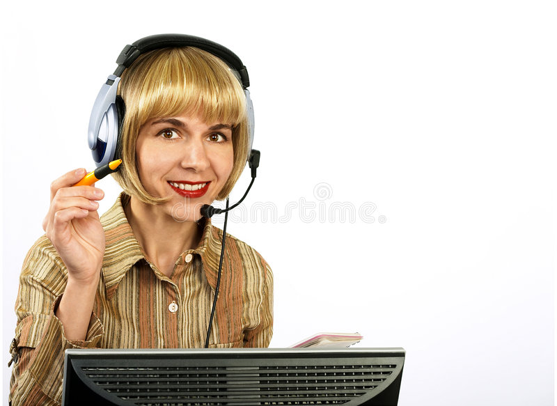 Friendly Support Service. Royalty Free Stock Image
