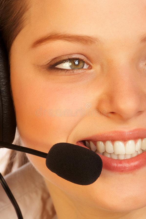 Download Friendly support service. stock photo. Image of attractive - 510548