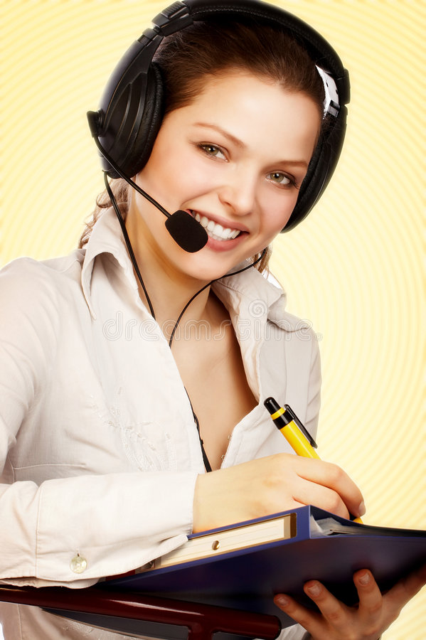 Friendly support service. stock photo