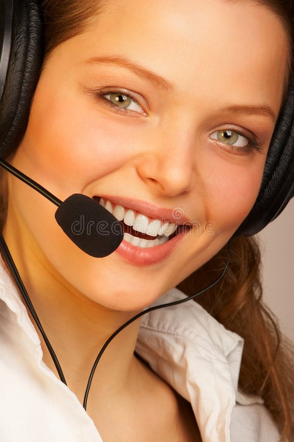 Friendly support service. stock photography