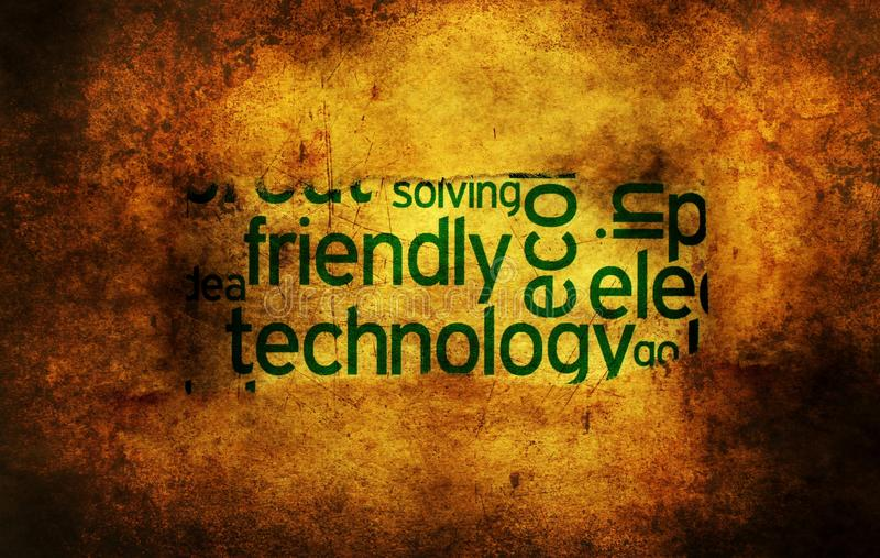 Friendly technology grunge concept. Close up of Friendly technology grunge concept stock photography