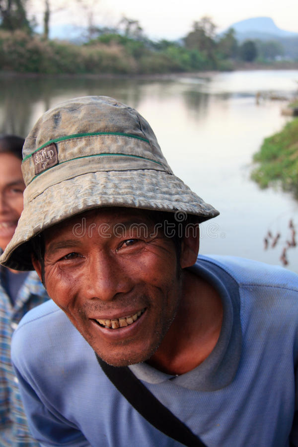 Friendly Thai. A friendly Thai gentleman on his way home from work, smiling into the camera stock photos