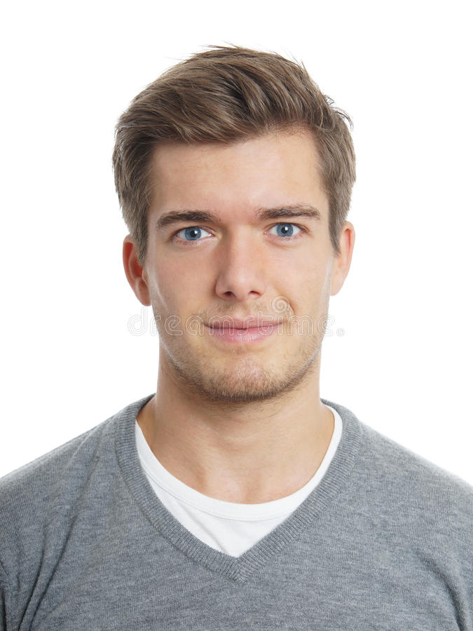Friendly young man stock images