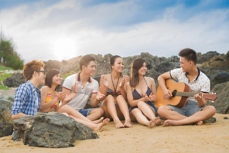 Friends� ovations stock photography