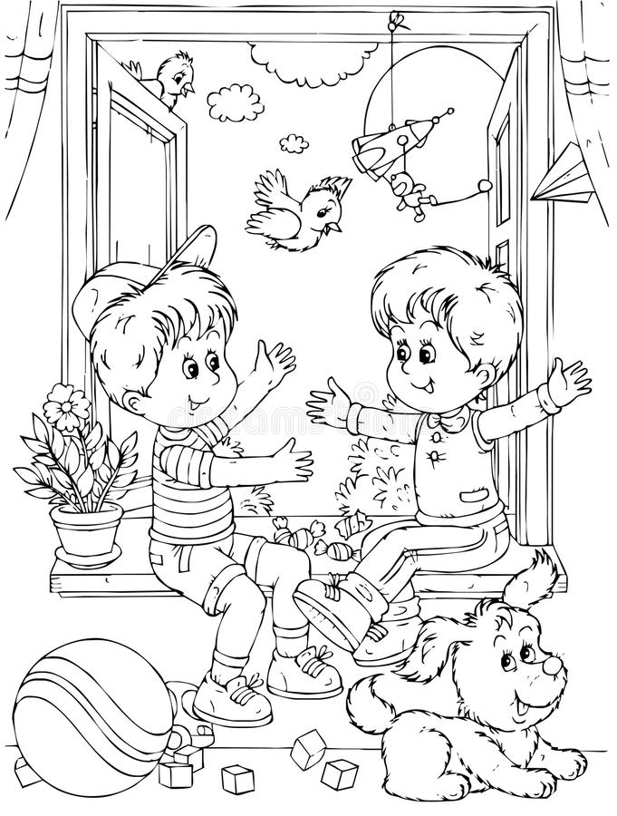 Friends royalty free illustration