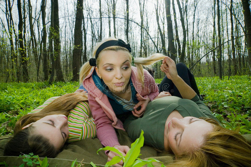 Download Friends stock photo. Image of forest, friend, tree, outdoor - 2505472