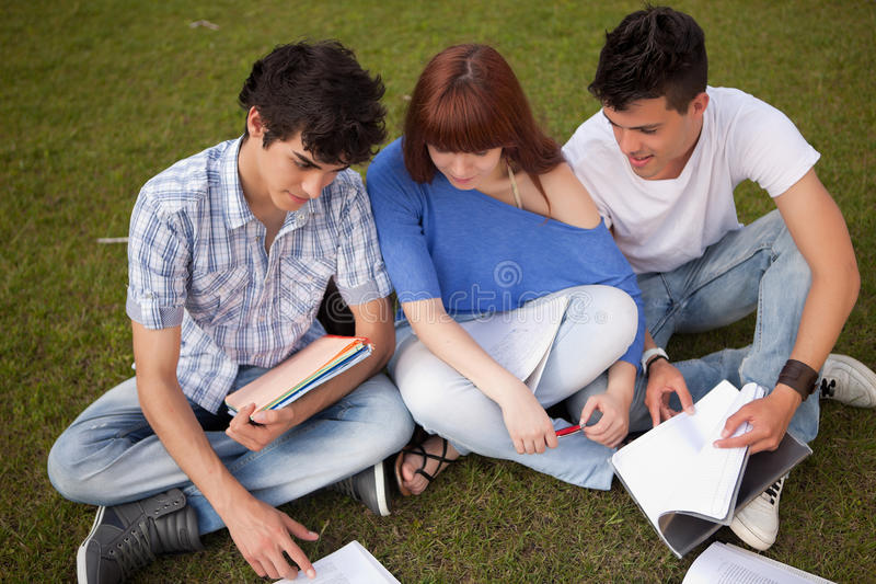 Download Friends stock photo. Image of book, learn, cheerful, exterior - 25420258