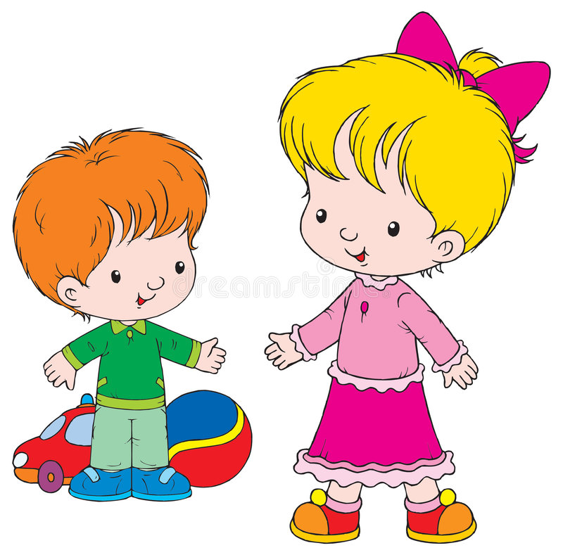 Friends. Vector clip-art / children's illustration for yours design, postcard, album, cover, scrapbook, etc