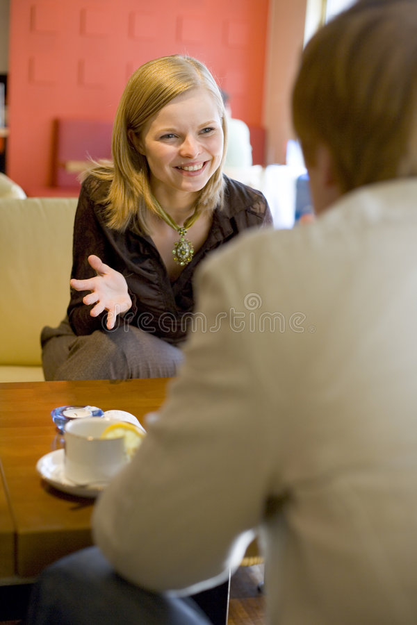 Free Friends At Cafe Royalty Free Stock Photos - 2097438