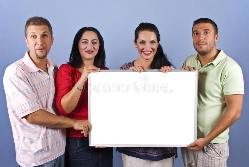 Download Friends With Banner Royalty Free Stock Photography - Image: 10757397