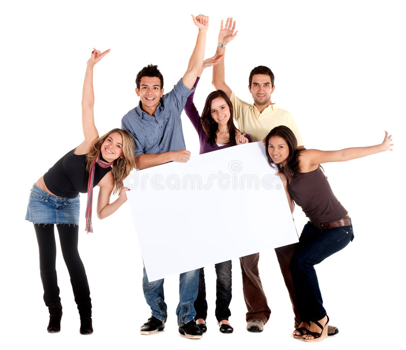 Download Friends with a banner stock image. Image of billboard - 7983825