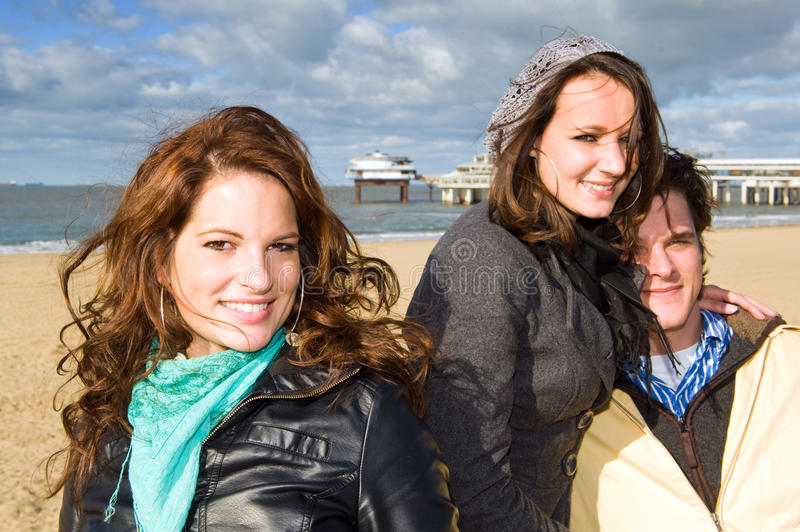 Download Friends on the beach stock image. Image of coastline - 13139775