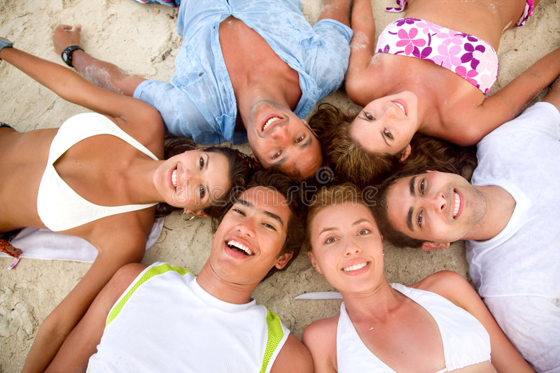 Download Friends at the beach stock image. Image of friendship - 7763835