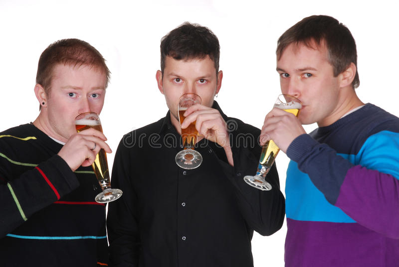 Friends with beer stock photography