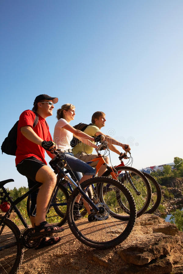 Download Friends bicyclists stock image. Image of relaxation, fitness - 22853509