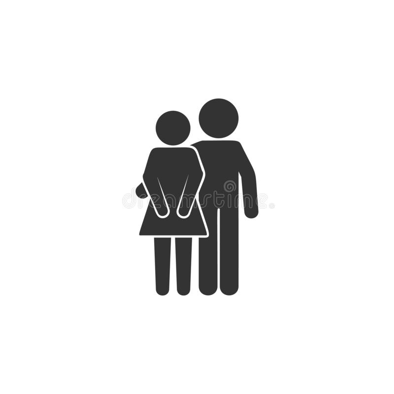 Friends, boyfriend and girlfriend icon. Simple glyph vector of friendship set icons for UI and UX, website or mobile application stock illustration