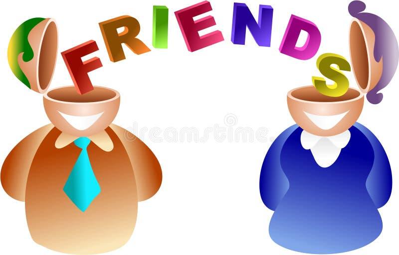 Friends brain stock illustration