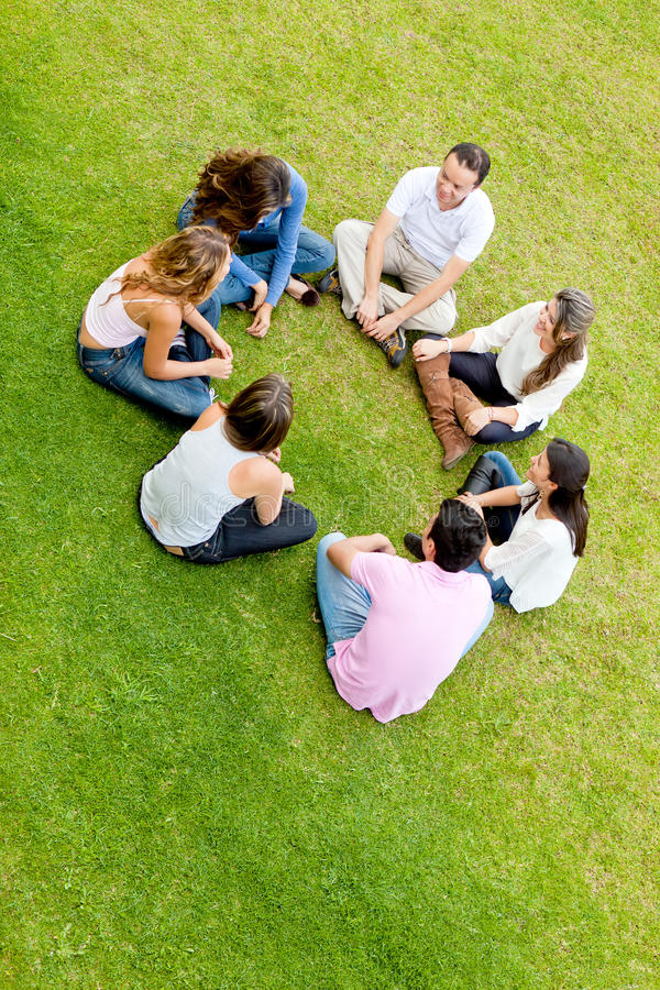 Download Friends in a circle stock photo. Image of males, social - 23513738