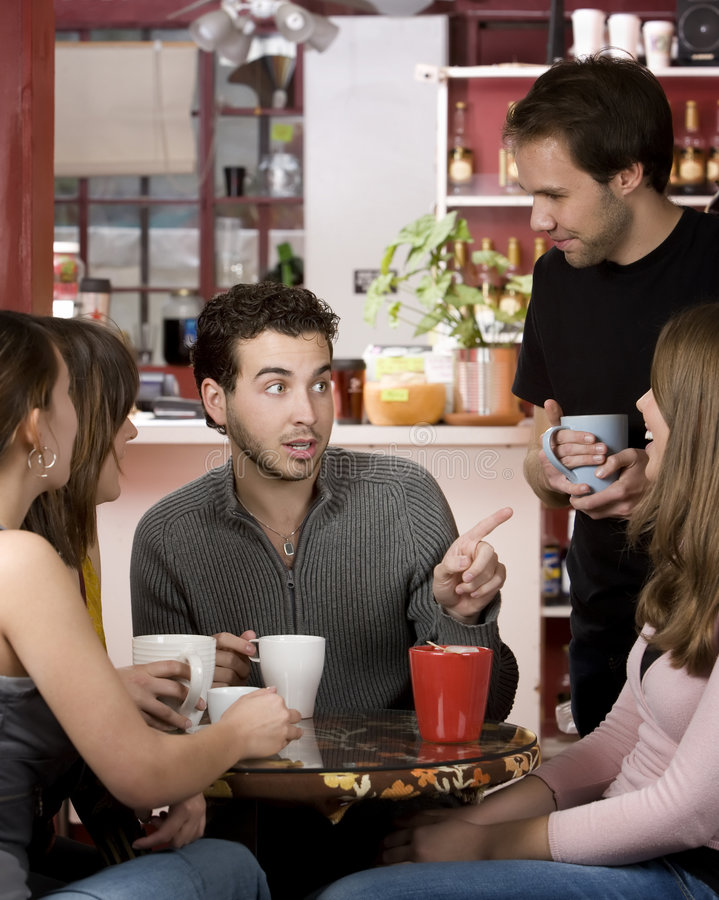 Download Friends In A Coffee House Royalty Free Stock Photos - Image: 7760248