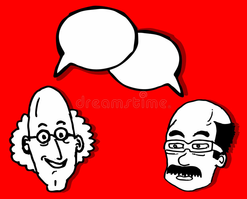 Download Friends Comic Talking Stock Photo - Image: 21997080