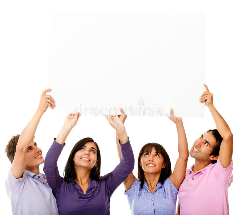 Download Friends displaying a sign stock image. Image of displaying - 21987167