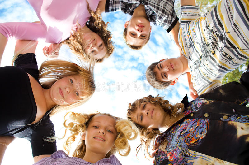 Download Friends embracing stock photo. Image of outside, group - 16255520