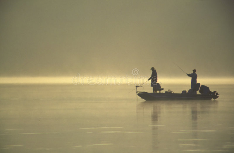 Friends Fishing royalty free stock photography
