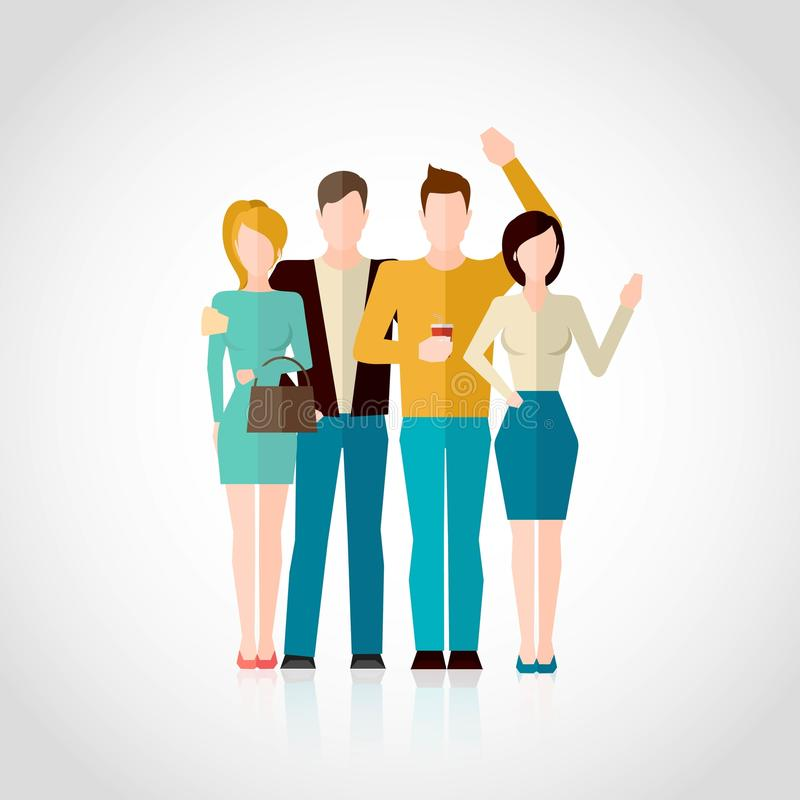 Friends Flat Illustration stock illustration