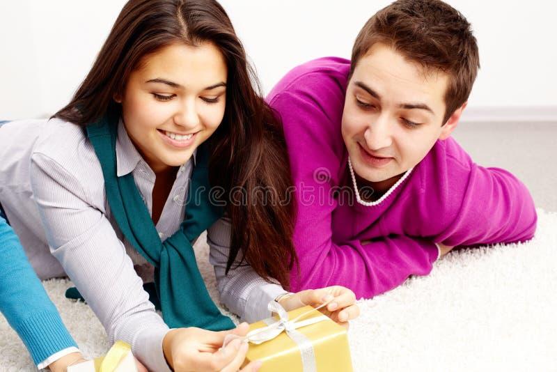 Download Friends on the floor stock image. Image of feminine, happy - 24738931