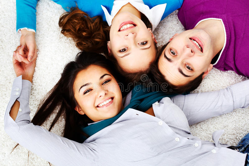 Download Friends on the floor stock photo. Image of caucasian - 31600170