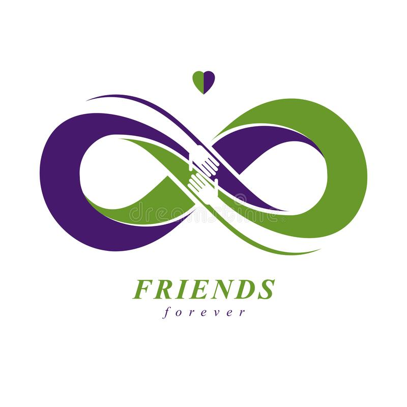 Friends Forever Everlasting Friendship Unusual Vector Logo Comb