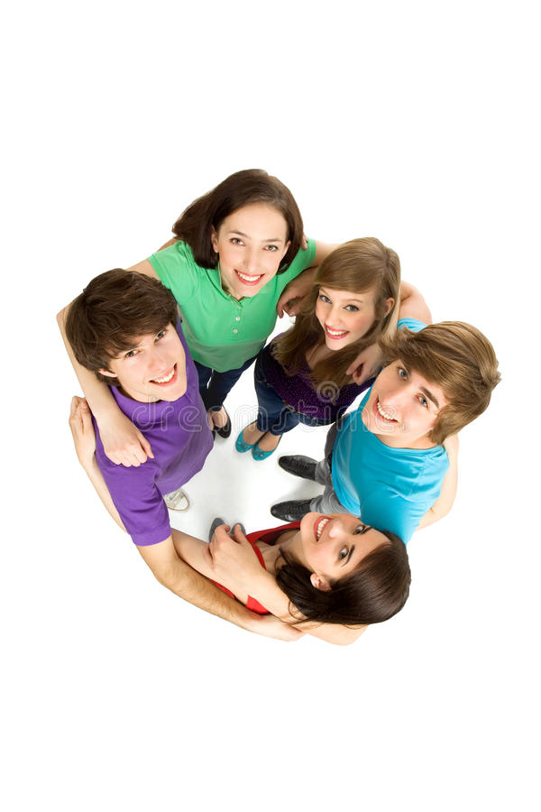 Download Friends forming a huddle stock photo. Image of friendship - 14283550