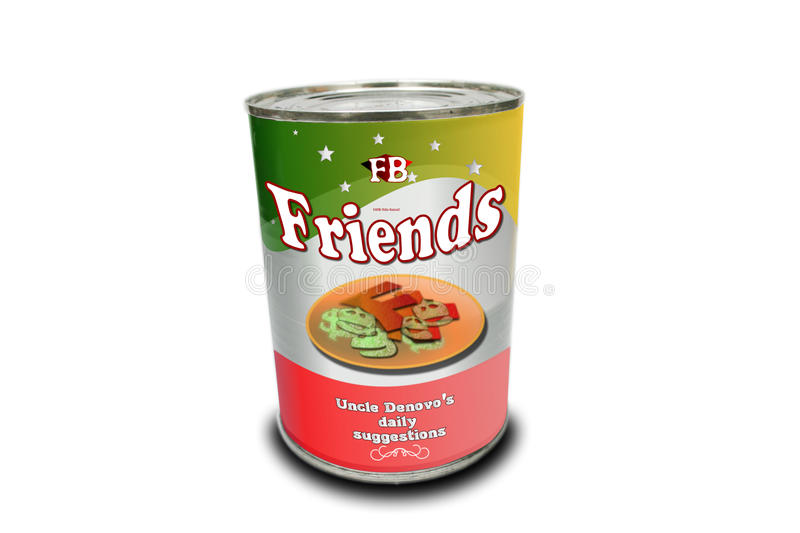 Friends fresh canned concepts stock photo