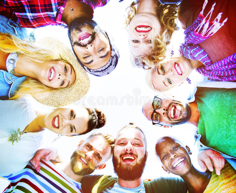 Friends Friendship Leisure Vacation Togetherness Fun Concept stock photos